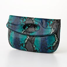 Nine & Co.® Faux-Snakeskin Clutch - $24.99 at Kohl's
