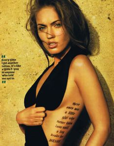 megan fox ugliest tattoo_regret