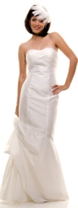 White Taffeta & Sequined Glamour Dress - $160