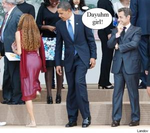 obama checking out girl g8